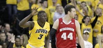 No. 5 Wisconsin's Kaminsky scores 24 in 74-63 win over Iowa
