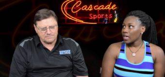 Coach Randy Farris introduces Kiarra Jones newest member of Cascade Sports